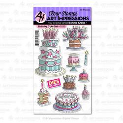 Art Impressions Birthday Cake -leimasin- ja stanssisetti