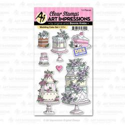 Art Impressions Wedding Cake -leimasin- ja stanssisetti