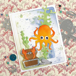 Elizabeth Craft Designs stanssisetti Octopus