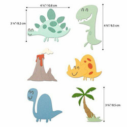 Sizzix Thinlits stanssisetti Dinosaurs