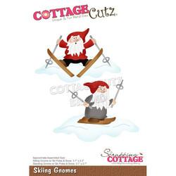 CottageCutz stanssi Skiing Gnomes