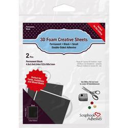 Scrapbook Adhesives kohotarra-arkki, 2 kpl, musta