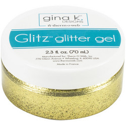 Gina K Designs Glitz Glitter Gel, sävy Gold