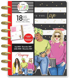 Mambi Classic Dashboard Happy Planner 18 kk -kalenteri, päivätty, Plan A Life You Love, Rongrong