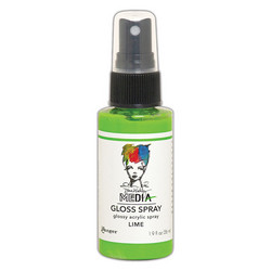 Dina Wakley Media Gloss Spray -suihke, sävy Lime, 56 ml