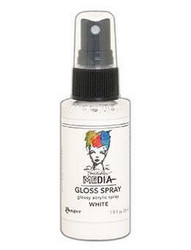 Dina Wakley Media Gloss Spray -suihke, sävy White, 56 ml