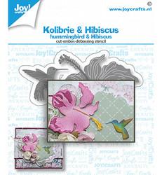 Joy! Crafts stanssisetti Hummingbird & Hibiscus