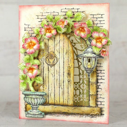Heartfelt Creations French Doorway -leimasin