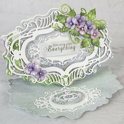Heartfelt Creations Elaborate Oval Frames -stanssisetti