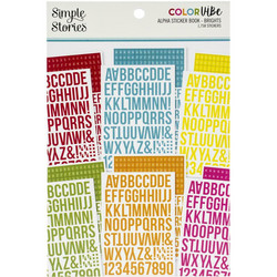 Simple Stories Alpha Sticker Book -tarrakirja Brights