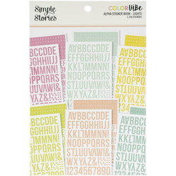 Simple Stories Alpha Sticker Book -tarrakirja Lights