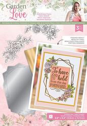 Gemini Foil Stamp Die -kuviolevy ja leimasinsetti Embellished Frame