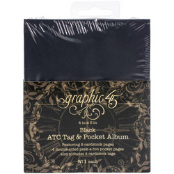 Graphic 45 Staples ATC Tag & Pocket Album -kansio