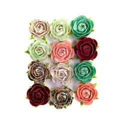 Prima Pretty Mosaic Mulberry paperikukat Peridot