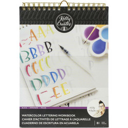 Kelly Creates Watercolor Brush Lettering Workbook  -harjoitusvihko, Block