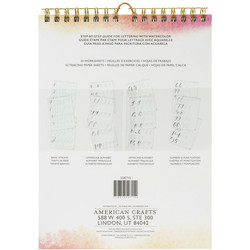 Kelly Creates Watercolor Brush Lettering Workbook  -harjoitusvihko, Script