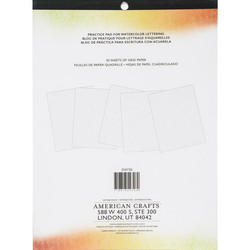 Kelly Creates Watercolor Brush Lettering Practise Pad -paperipakkaus