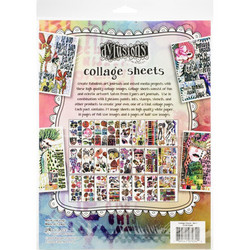 Dyan Reaveley's Dylusions Collage Sheets -paperipakkaus, setti 1