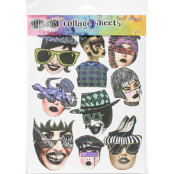 Dyan Reaveley's Dylusions Collage Sheets -paperipakkaus, setti 1