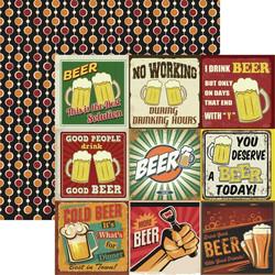 Reminisce Happy Hour skräppipaperi More Beer 2