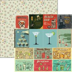 Reminisce Happy Hour skräppipaperi Cocktails & Dreams