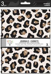 Mambi Journals -muistikirjat, 3 kpl, Leopard