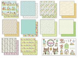 Craft Consortium Cottage Garden -paperipakkaus
