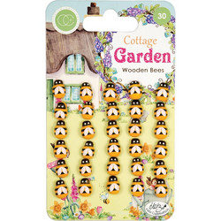 Craft Consortium Cottage Garden Wooden Bees -koristeet