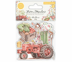 Craft Consortium Farm Meadow Wooden Shapes -koristeet