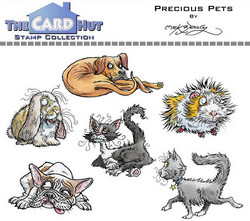 The Card Hut leimasinsetti Precious Pets