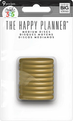 Mambi Happy Planner renkaat. Gold. 1.25