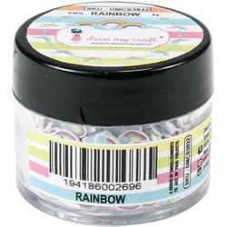 Dress My Crafts Shaker -koristeet, Rainbow