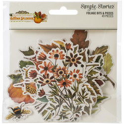 Simple Stories Autumn Splendor Floral Bits Die-Cuts, leikekuvat