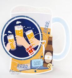 Marianne Design sapluuna Beer Mug By Marleen