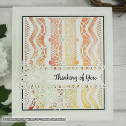 Creative Expressions stanssi Endless Options, Martha Background