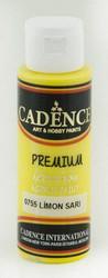 Cadence Premium Acrylic -akryylimaali, sävy Lemon Yellow, 70 ml