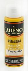 Cadence Premium Acrylic -akryylimaali, sävy Sun Yellow, 70 ml