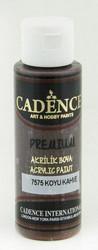 Cadence Premium Acrylic -akryylimaali, sävy Dark Brown, 70 ml