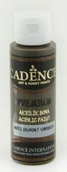 Cadence Premium Acrylic -akryylimaali, sävy Burnt Umber, 70 ml