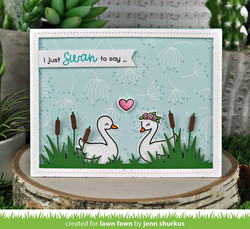 Lawn Fawn stanssisetti Cattails Border