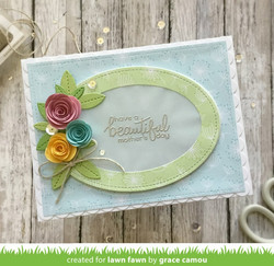 Lawn Fawn stanssisetti Rolled Roses