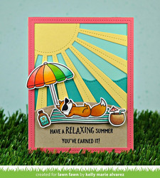 Lawn Fawn stanssi Sunray Backdrop