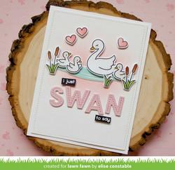 Lawn Fawn leimasinsetti Swan Soirée