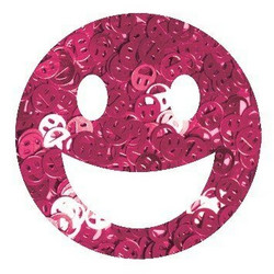 Aladine Izink Glitter -koristeet, Pink Smiley