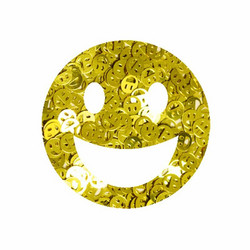 Aladine Izink Glitter -koristeet, Gold Smiley