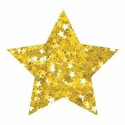 Aladine Izink Glitter -koristeet, Gold Stars