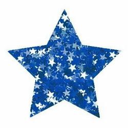 Aladine Izink Glitter -koristeet, Blue Stars