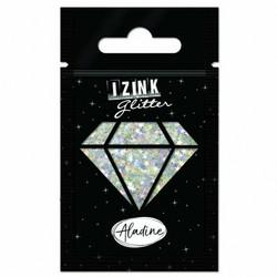 Aladine Izink Glitter -koristeet, Silver Stars