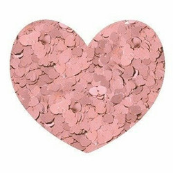 Aladine Izink Glitter -koristeet, Light Peach Hearts