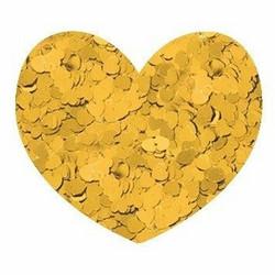 Aladine Izink Glitter -koristeet, Gold Hearts